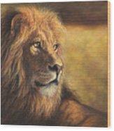Lion Heart Wood Print
