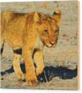 Lion - Id 16235-220310-4716 Wood Print