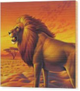 Lion King  Wood Print