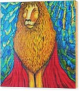 Lion-king Wood Print