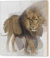 Lion Lion Lion Wood Print