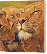 Lion Love #2 Wood Print