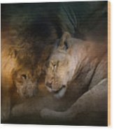 Lion Love Wood Print