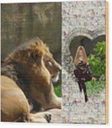Lion Love Wood Print