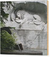 Lion Monument Lucerne Switzerland Wood Print
