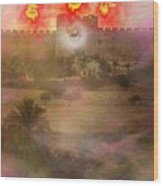 Lion Of Judah At The Gate He Is Coming Wood Print