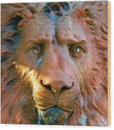 Lion Of Saint Augustine Wood Print