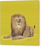 Lion Painting Wood Print