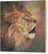 Lion Roar Profile Wood Print