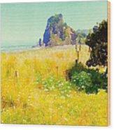 Lion Rock Painted Photo Wood Print
