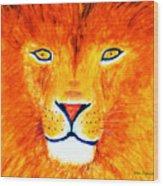 Lion Selfie Color Pop Wood Print