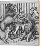 Lion Tamer, 1873 Wood Print