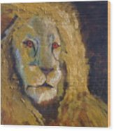 Lion Two Wood Print