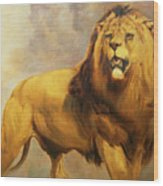 Lion  Wood Print by William Huggins