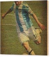 Lionel Andres Messi Argentine Footballer Fc Barcelona  Wood Print by Lee Dos Santos