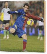 Lionel Messi Wood Print