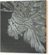 Lionfish With Forks Wood Print