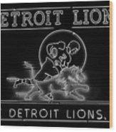 Lions Football Wood Print