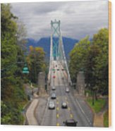 Lion's Gate Bridge Wood Print