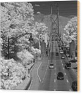 Lions Gate Bridge Summer Wood Print