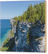 Lions Head Limestone Cliffs Wood Print