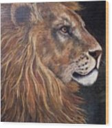 Lions Portrait Wood Print