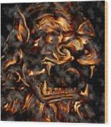 Lions Roar Wood Print