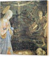 Lippi  Fra Filippo Painting Year1463 Wood Print