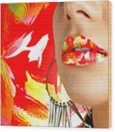 Lips Radiance Wood Print