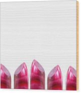 Lipstick Border With Copy Space Wood Print
