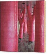 Lipstick Forest 4 Wood Print