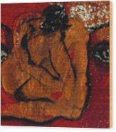 Lipstick Portrait Wood Print