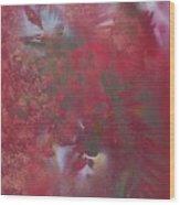 Lipstick Red Illusion Wood Print