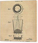 Liquershot Glass Patent 1925 Sepia Wood Print