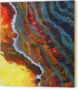 Liquid Abstract Fifteen Wood Print