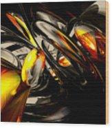 Liquid Chaos Abstract Wood Print