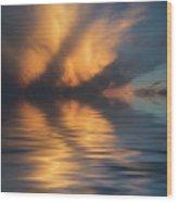 Liquid Cloud Wood Print