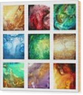 Liquid Color I By Madart Wood Print