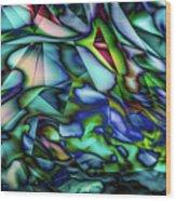 Liquid Geometric Abstract Wood Print