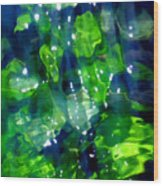 Liquid Leaves Wood Print