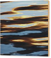 Liquid Setting Sun Wood Print