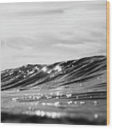Liquid Silver I Wood Print