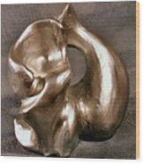 Liquid Silver Wood Print