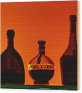 Liquor Still Life Wood Print