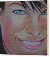 Lisa In Close Up Wood Print