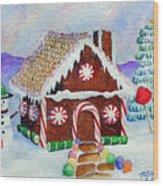 Lisa's Gingerbread House Wood Print