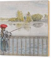 Lisbeth Angling. From A Home By Carl Larsson Wood Print