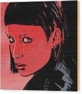 Lisbeth Salander Mara Rooney Wood Print by Giuseppe Cristiano