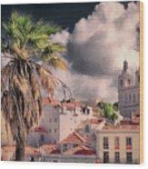 Lisbon Cityscape 4 Wood Print