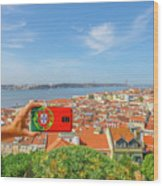 Lisbon Pictures Aerial Wood Print